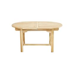 Ploß Gartentisch LOUISIANA, ECO-TEAK® Holztisch - Oval - Ausziehbar