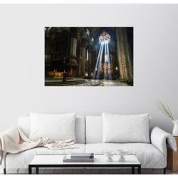 Posterlounge Wandbild, Lichteinfall im Mailänder Dom 150 cm x 100 cm