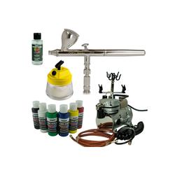 Airbrush-City Druckluftwerkzeug Nail-Art Airbrush Set - iwata Neo Airbrushpistole + Saturn Kompressor - Kit 7107, (1-St)