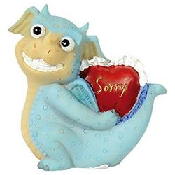 Funny Dragon Dekofigur Dekofigur Funny Dragon Lustiger Drache Sorry Höhe 6,5 cm Kunststoff
