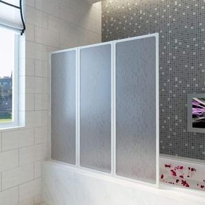 Festnight Badewannen Faltwand Duschabtrennung 117 x 120 cm (H x B)