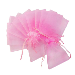10 x Organzasäckchen Organzabeutel Schmuckbeutel Säckchen Organza rosa