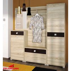 Feldmann-Wohnen Garderobe BELLA (Set), 1 Kommode + 1 Paneel + 1 kleine Kommode + 1 Hochschrank mit Spiegel