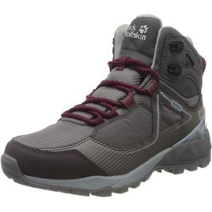 Jack Wolfskin Damen Cascade Hike XT Texapore MID W Trekking- & Wanderstiefel, Grau (Pebble Grey/Pink 6515), 35.5 EU