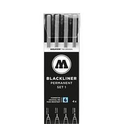 MOLOTOW BLACKLINER SET 1 Fineliner-Set schwarz 4 St.