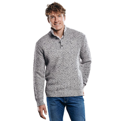 Hochwertiger Pullover Engbers Silbergrau