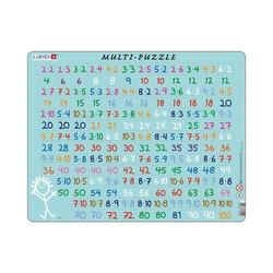 Larsen Puzzle Rahmen-Puzzle, 58 Teile, 36x28 cm, Multiplizieren, Puzzleteile