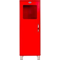 Tenzo Vitrine Malibu mit 1 Tür mit Glasfenster, Design von Rutger Anderson rot