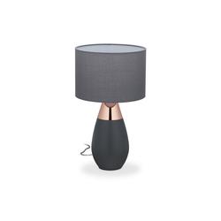 relaxdays Nachttischlampe Nachttischlampe Touch oval XL