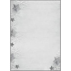 SIGEL Weihnachtsbriefpapier Frozen Stars Motiv DIN A4 90 g/qm 100 Blatt