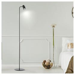 etc-shop Stehlampe, Stehlampe schwarz Stehleuchte Leselampe Wohnzimmerlampe stehend, beweglicher Spot, LED 5 Watt 400Lm warmweiß, H 142 cm, Wohnzimmer