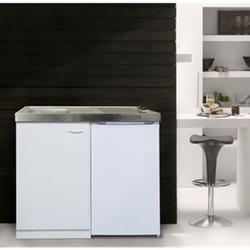 Respekta Miniküche MK100WCSV 100 cm Weiß