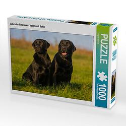 Labrador Retriever - Vater und Sohn Lege-Größe 64 x 48 cm Foto-Puzzle Bild von SiSta-Tierfoto Puzzle