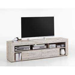 TV-Lowboard TV-Board Multimedia Lowboard in Sandeiche-Nachbildung mit 5 Fächern und 2 Schubkästen, Maße: B/H/T ca. 180/53/41,5 cm