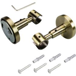 Deckenträger, Liedeco, Gardinenstangen, (1-St), für Gardinenstangen Ø 16 mm goldfarben