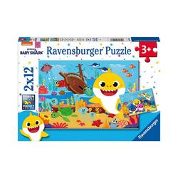 Ravensburger Puzzle Puzzle Der kleine Baby Hai, 2x12 Teile, Puzzleteile