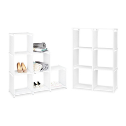 2er Set Stufenregal weiß Raumteiler Stecksystem Treppenregal Bücherregal