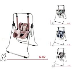 Clamaro Babyschaukel, Schaukel für Kinder, Zimmerschaukel, Babyschaukel von CLAMARO 2in1 grau