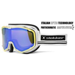 Slokker Skibrille SLK RT Photochrom weiß-blau