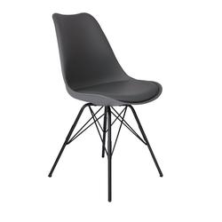 SAM® Schalenstuhl Luis, mit integriertem Sitzkissen in Lederoptik in grau grau