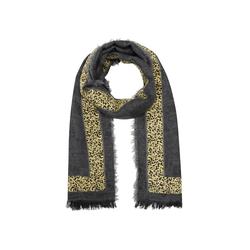 Premium Paisley-Schal mit Leostreifen Codello grey