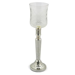 matches21 HOME & HOBBY Kerzenständer Kerzengläser Windlichter Antik 40 cm
