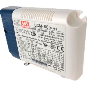 MW LCM-60DA - LED-Trafo, 60 W, 2-90 V DC, Taster-Dimmung, DALI