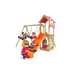 HEROOWS Spielturm Active Heroows Schaukelgestell mit Sandkasten und Kletterwand, Schaukel & Rutsche, viel Zubehör