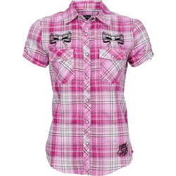 Lethal Angel Rockabilly Bluse B-Ware pink S