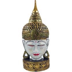 Guru-Shop Buddhafigur Stehende Buddha Maske, Thai Buddha Statue -.. 24 cm x 61 cm x 10 cm