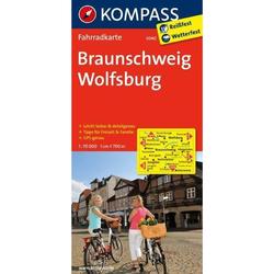 Braunschweig - Wolfsburg 1 : 70 000 - Fahrradkarten