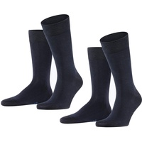 Falke Socken Happy 2-Pack (2-Paar) Baumwollstrumpf für jedes Outfit blau 43-46