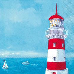 VBS Papierserviette Leuchtturm, (20 St), 33 cm x 33 cm