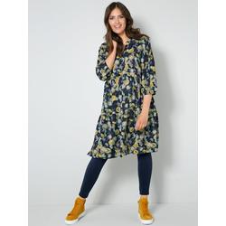 Web-Kleid Janet & Joyce Marineblau/Goldfarben/Multicolor