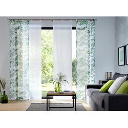 Schiebegardine Bambus, my home, Schlaufen (2 Stück) 57 cm x 145 cm