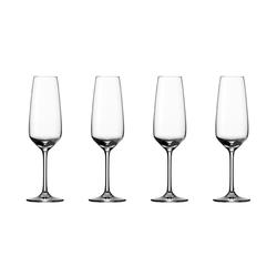 Vivo - Villeroy & Boch Voice Basic Glas Champagne Sektglas 4er Set Kristallglas, klar