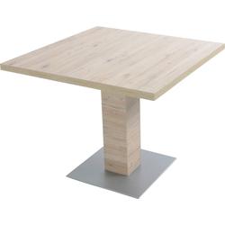 K+W Komfort & Wohnen Esstisch Santos II, Esstisch quadratisch mit einer Säule braun