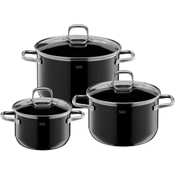 Silit Topf-Set Elegance Line, Silargan, (Set, 3 tlg.), induktionsgeeignet schwarz Topfsets Töpfe Haushaltswaren