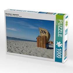 Strandkorb - Impression Lege-Größe 64 x 48 cm Foto-Puzzle Bild von Tanja Riedel Puzzle
