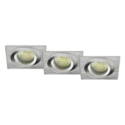 LED Einbaustrahler 3er-SET MR16, GU5.3 warmweiß, eckig 5W Marken-LEDs