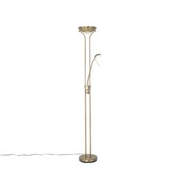 Moderne Stehlampe Bronze mit Leselampe inkl. LED dunkel bis warm - Diva