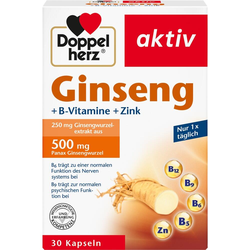 DOPPELHERZ Ginseng 250+B-Vitamine+Zink Kapseln