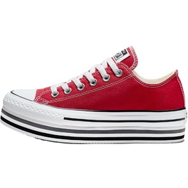 Converse Chuck Taylor All Star Platform Layer red/ white, 39.5