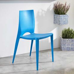 Stuhl Set aus Kunststoff Blau (4er Set)