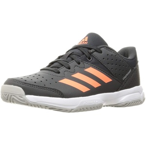 adidas Court Stabil Handball Shoe, Grey/Signal Coral/Grey, 33 EU