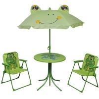 vidaXL Froggy Set 3-tlg. grün inkl. Sonnenschirm