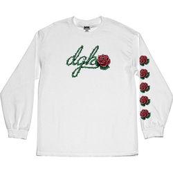 Tshirt DGK - Bloom L/S Tee White (WHITE)