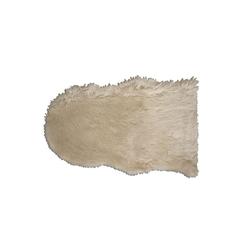 Schaffellteppich Lama in natur, 55 x 80 cm
