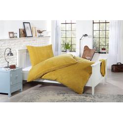 Bettwäsche Knut, Gözze, aus Lammfellimitat gelb