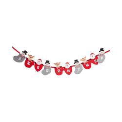 Hotex Wandkalender Adventskalender Girlande rot/grau, 235 cm